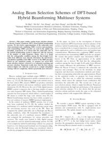Analog beam selection schemes of DFT-based hybrid beamforming