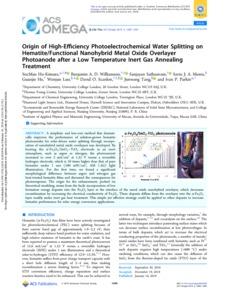 Origin of High-Efficiency Photoelectrochemical Water
