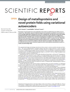Design of metalloproteins and novel protein folds using variational