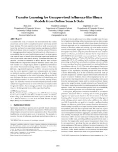 Transfer learning for unsupervised influenza-like illness
