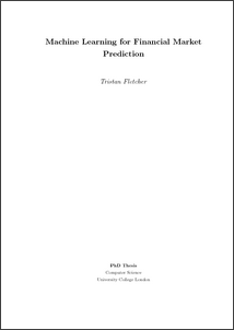 Machine learning for financial market prediction - UCL Discovery