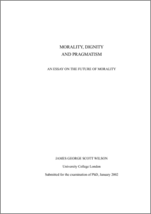 morality dignity and pragmatism an essay on the future of  morality dignity and pragmatism an essay on the future of morality