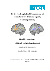 thesis on working memory Working memory span 2 working memory span differences in the use of encoding strategies lyndley dmitsak marietta college this thesis has been approved for the.