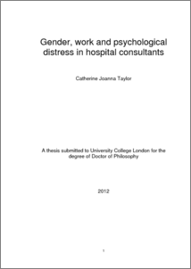 doctorate thesis on occupational stress