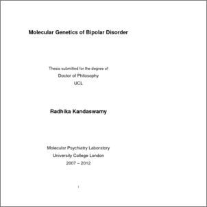 Apa research paper on bipolar disorder