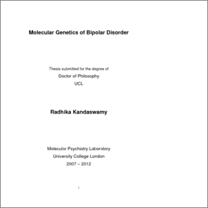 Bipolar disorder research paper apa form