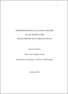 slavery essay thesis