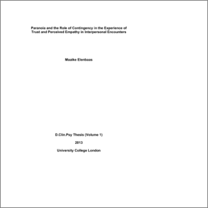 interpersonal trust thesis You do not have access to any existing collections you may create a new collection the researcher explored interpersonal trust (a construct from the fields of psychology and sociometry) in the context of engineering work groups the study explored the potential antecedents of trust and the.