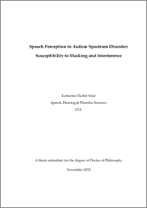Thesis on autism spectrum disorder