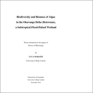 Biodiversity and biomass of algae in the Okavango Delta