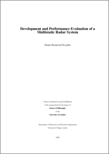 Development and performance evaluation of a multistatic radar system