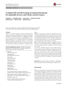 Combined 2D and 3D tracking of surgical instruments for