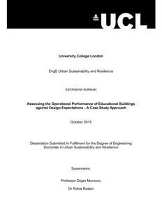 Ucl dissertation front page