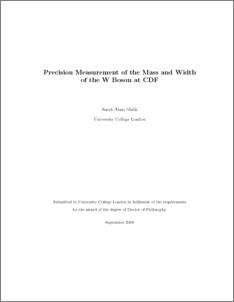 cdf fermilab thesis