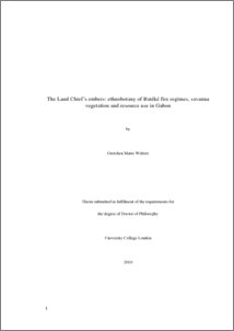 Phd thesis on ethnobotany
