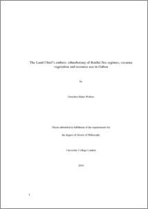 Phd thesis on ethnobotany