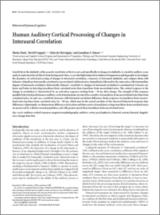Human Auditory cortical processing of changes in interaural