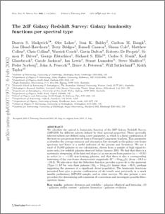 The 2dF Galaxy Redshift Survey: galaxy luminosity functions per
